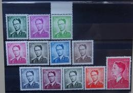 BELGIE 1958    Nr. 1066 - 1075    Postfris **     CW  365,00 - 1953-1972 Lunettes