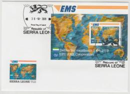 Sierra Leone 2019 Mi. ? FDC Souvenir Sheet Joint Issue 20e Anniversaire EMS 20 Years Emission Commune E.M.S. UPU - Emisiones Comunes