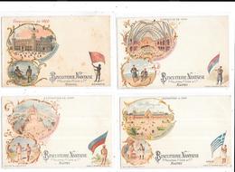 11307 - Lot De 6 CPA Exposition De 1900, Publicité Biscuiterie Nantaise, Chili, Dahomey,grèce, - Exposiciones