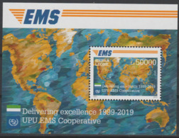 Sierra Leone 2019 Mi. ? Bloc Block Souvenir Sheet Joint Issue 20e Anniversaire EMS 20 Years Emission Commune E.M.S. UPU - Sierra Leone (1961-...)