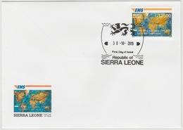 Sierra Leone 2019 Mi. ? FDC Joint Issue 20e Anniversaire EMS 20 Years Emission Commune E.M.S. UPU - Sierra Leone (1961-...)