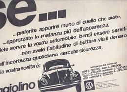 (pagine-pages)PUBBLICITA' VOLKSWAGEN   Oggi1969/23. - Livres, BD, Revues