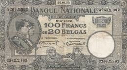 100 Fr - 20.06.32 - 100 Francs & 100 Francs-20 Belgas
