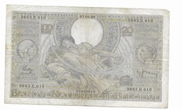 100 Fr -27.04.38 - [ 2] 1831-... : Belgian Kingdom
