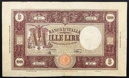 1000 LIRE GRANDE M B.I. R.S.I. 30 11 1944 BIGLIETTO NATURALE, NON TRATTATO R3 RRR Mb/q.bb Taglietti LOTTO 3074 - [ 1] …-1946: Königreich