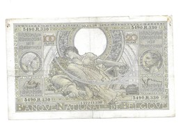 100 Fr -30.12.38 - 100 Francs & 100 Francs-20 Belgas