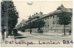 - 60 - PARIS - Avenue  De La République - Rare Avec Un Petit Aéroplane, Le Lycée Voltaire, Attelage, Non écrite,  1901. - Arrondissement: 11