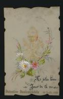 IMAGE PIEUSE CANIVET EN CELLULOID SOUVENIR 1ER COMMUNION 1888 VALENTINE VANDEWYNCKELE   2 SCANS - Images Religieuses