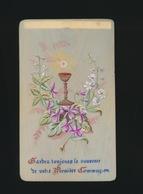 IMAGE PIEUSE CANIVET EN CELLULOID SOUVENIR 1ER COMMUNION - Images Religieuses