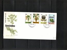 Seychelles 1980 Coccos Tree FDC - Fruits