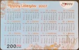 Mobilecard Thailand - Happy  - Kalender,calendar 2007  - 31/03/2009 (2.4) - Thailand