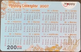 Mobilecard Thailand - Happy  - Kalender,calendar 2007  - 30/09/2008 (2.4) - Thailand