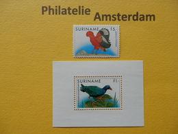 Suriname 1986, FAUNA BIRDS OISEAUX VOGELS VÖGEL AVES: Mi 1165, + Bl. 43, ** - Sonstige