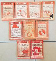 LOT DE 9 LIVRES ROSES POUR LA JEUNESSE - 1909-1920 - Tous Différents. NOMBREUSES ILLUSTRATIONS. - Bücher, Zeitschriften, Comics