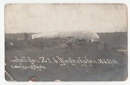 DIEDENHOFEN THIONVILLE 1914 FELDPOST ZEPPELIN DIRIGEABLE AVIATION CARTE PHOTO Défauts /FREE SHIPPING R - Thionville