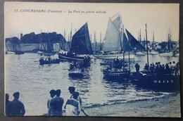 CPA 29 CONCARNEAU - Le Port En Pleine Activité - Nozais 55 - Réf. N 154 - Concarneau