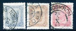 Mi. 130 A, 131 A, 132 A (K 13:12 1/2) Gestempelt - 1850-1918 Empire