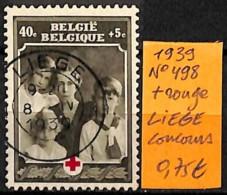 [831635]TB//O/Used-Belgique 1939 - N° 498, LIEGE, Concours, Organisations, Croix-Rouge - Belgique