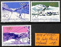 [832729]TB//**/Mnh-Liechtenstein 1979 - N° 679/81, Lake Placid, Jeux Olympiques, Sports, Ski - Liechtenstein