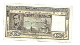 100 Fr - 26.07.49 - [ 2] 1831-... : Royaume De Belgique