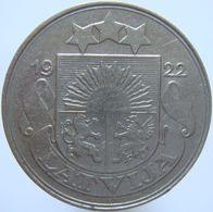 LaZooRo: Latvia 50 Santimu 1922 XF - Lettonie