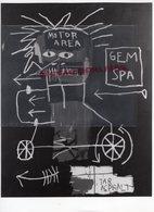 19- MEYMAC - RARE PHOTO ORIGINALE JEAN MICHEL BASQUIAT -MOTA TAR 1982-HUILE SUR TOILE-LES ANNEES 80- PEINTRE UNDERGROUND - Berühmtheiten