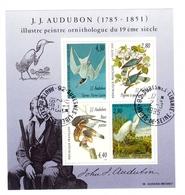 France Bloc Oblitéré N°18 Cachet 1995 Suresnes JJ Audubon Peintre Ornithologue Oiseaux Oiseau - Sheetlets