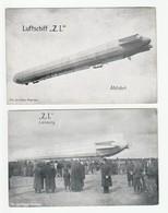 MUNCHEN Z.I. FELDPOST ZEPPELIN DIRIGEABLE AVIATION 2 CPA /FREE SHIPPING R - Guerre 1914-18