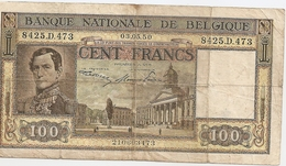 100 Fr - 03.05.50 - [ 2] 1831-... : Royaume De Belgique