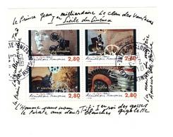 France Bloc Oblitéré N°17 Cachet 1995 Suresnes , 1er Siecle De Cinéma - Sheetlets