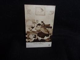 Arts.Peinture. Tableaux . Salon De Paris .Foujita. Mon Portrait. Carte Photo ( Chat )  Voir 2 Scans . - Schilderijen