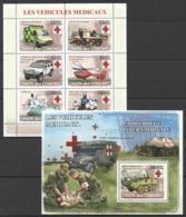 UC111 2008 UNION DES COMORES LES VEHICULES MEDICAUX 1KB+1BL MNH - Vrachtwagens