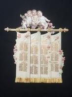 Rare Calendrier Chromo Pour 1897 Coulissant Comme Une Tenture - Calendari