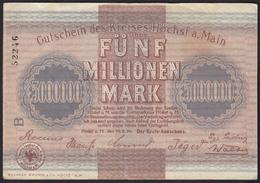 Hessen - Höchst 5-Millionen Mark Gutschein 1923 Notgeld   (13822 - Alemania
