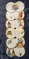 Rare Calendrier à Ruban Pour 1894 Mois Et Chansons - Calendriers