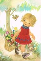 Fillette,  -girl - Mädchen - Meisje Vogeltjes - Bordados