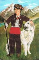 Garcon- Child - Jongen Met Hond - Junge - Bordados