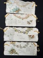 Rare Calendrier Pochette à Ruban Pour 1896 Mois Et Chansons - Calendari