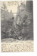 25072 - Gorge De Fée Pont Près Hohe Stiege Saas-Fee Circulée 1906 - VS Valais
