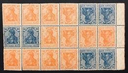 GERMANIA Impero 1916 30pf + 40pf  5 Es. + 30pf + 10pf 18 Es. Tete Beche Alcuni Esemplari Non Perfetti COD.FRA.1259 - Nuovi