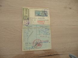 Lodève Permis De Chasse Départemental 2 TP Fiscaux 1948 - Fiscales