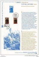 """"""" FRANCE - CITE DU VATICAN 2012 / JEANNE D'ARC """" Sur Document Philatélique Officiel 1er Jour. Parfait état. DPO - Emisiones Comunes"""