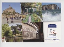 Label Normandie Mont Saint Michel Giverny Etretat Tessé Madeleine Tapisserie Bayeux (cp Vierge) - Basse-Normandie