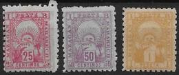 1893-95 Maroc  N° 49 à 51 Nf** MNH . Mazagan à Marrakech . - Poste Locali