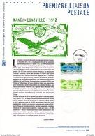 """Faciale 3 € """" 1ERE LIAISON POSTALE NANCY / LUNEVILLE """" Sur Doc Philatélique Officiel De 2012. N°YT PA 75. Parf état. DPO - Aviones"""