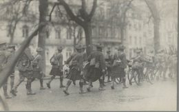 Spa - Carte-photo - Guerre 14-18 - Groupe De Militaires - Ecossais - 2 Scans - Spa