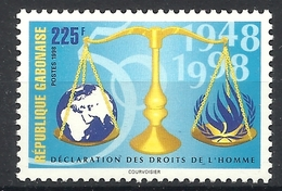 GABON 1998 DECLERATION OF HUMAN RIGHTS MNH - Gabon
