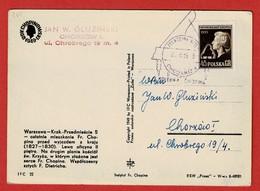 Gelegenheidsstempel Chopin  Op Gelopen Poolse Postkaart 2 Scan - Musik