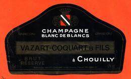 étiquette De Champagne Brut Reserve Vazart Coquart Et Fils à Chouilly - 75 Cl - Champan