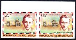 Haute-Volta 0429 Paire Imperforée, Guglielmo Marconi Italia, Nobel De Physique 1909 - Nobelprijs